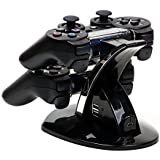MP power ® Gaming Caricabatteria Doppio Dual Docking Station per Playstation 3 PS3 Controller gamepad con LED
