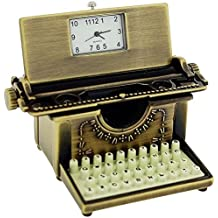 Miniature Old Fashioned Aged Typewriter Novelty Desktop Collectors Clock 0462