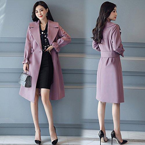 Female Coats Women'S Long The Jackets Windbreaker Female amp; Among Maximum Collar Reverse Purple Jacket SCOATWWH Presence Women'S FOtwqF