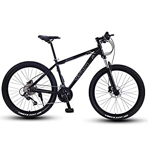 NENGGE Mountain Bikes, 27.5 Inch Big Wheels Hardtail Mountain Bike, Overdrive Aluminum Frame Mountain Trail Bike, Mens Women Bicycle,Silver,27 Speed