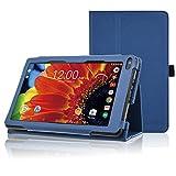 """ACdream RCA Voyager 7 Case, Folio Premium PU Leather Cover Case for RCA Voyager 7"""" 16GB / 8 GB Tablet Android 6.0 (Marshmallow), Dark Blue"""