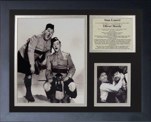 """Legenden Sterben Nie """"Laurel und Hardy gerahmtes Foto Collage, 11 x 35,6 cm von Legends Never Die"""