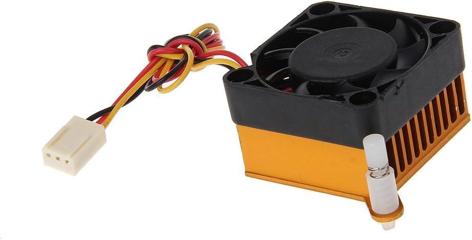 luosh Aluminium K/ühlk/örperl/üfter PC Northbridge Chipsatz Aluminium K/ühler K/ühlk/örper 40mm L/üfter F/ür 3D-Druckerk/ühlung