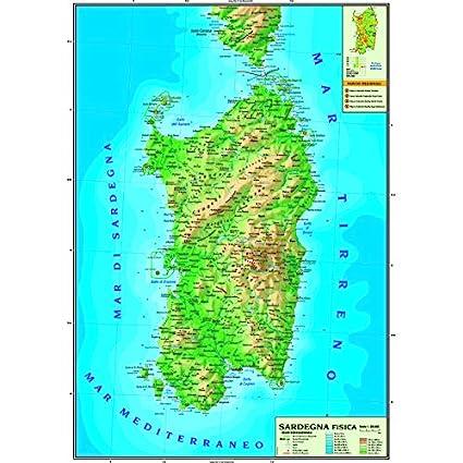 Carta geografica murale regionale Triveneto 100x140 bifacciale fisica e politica