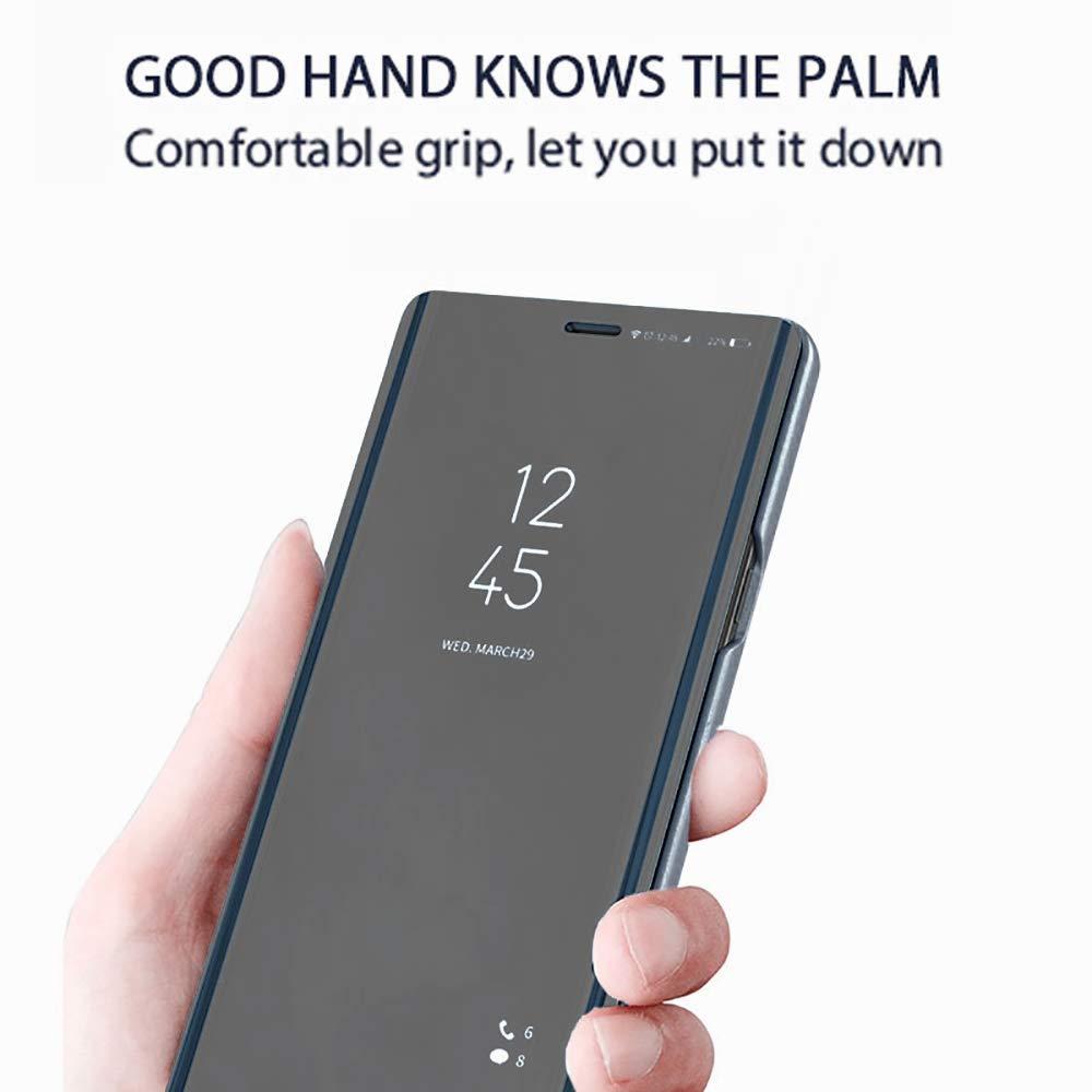 2015 Violet Premium Vue de La Fen/être Translucide Tr/ès Mince Dur Anti-Rayures Antichoc Verticale Housse de Protection pour Samsung Galaxy S6 Dfly Galaxy S6 Miroir Placage Flip Coque