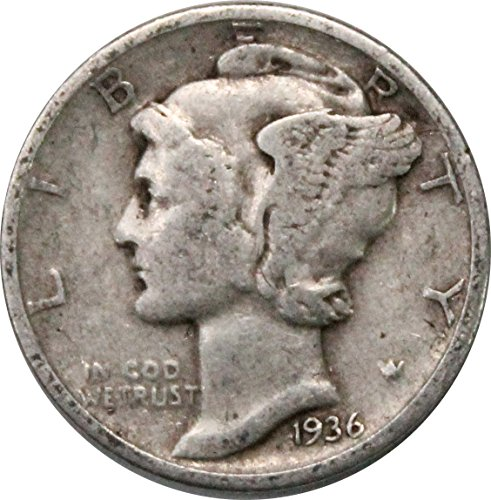 (1936 P Silver Mercury Dime 10c Very Good)