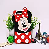 Jinxtech Minnie Shaped Adorable 3D Cute Cartoon Character Soft Rubber Silicone Case with a Strap for iPhone 7 Plus,iPhone 8 Plus (5.5 Inch)(Minnie)