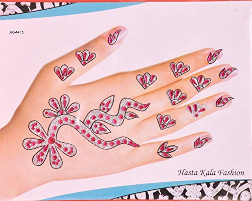 Silver Bridal Henna Mhendi Temporary Tattoos (Henna Earth Tattoo)