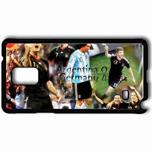 Personalized Samsung Note 4 Cell phone Case/Cover Skin Argentina V Germany Germany Football Federation Argentina Miroslav Klose Football Black