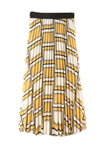 Coloris Jupe Dcontracte Plusieurs Tayaho Longue Jupe Taille Femme En Haute Jupe Extensible Mi Pliss Taille Femelle Skirt T Yellow Jupe RU6UtOxq