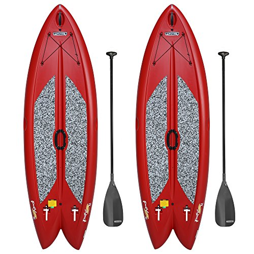 Lifetime Freestyle XL 98 Stand-Up Hardshell Paddleboard - 2 Pack (Paddles Included), Red