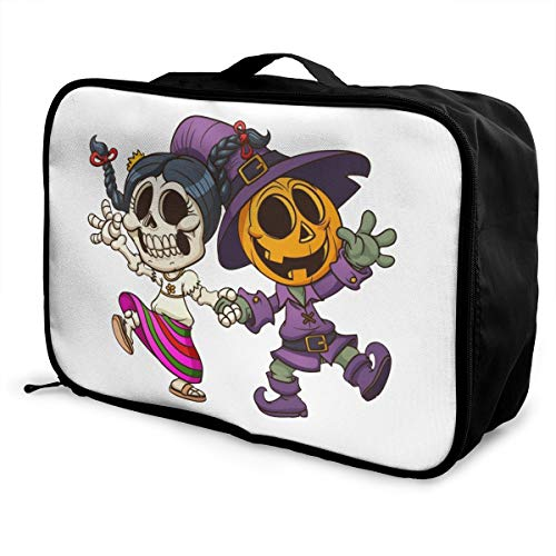 Día De Muertos Lightweight Large Capacity Portable Luggage Bag Fashion Travel Duffel Bag