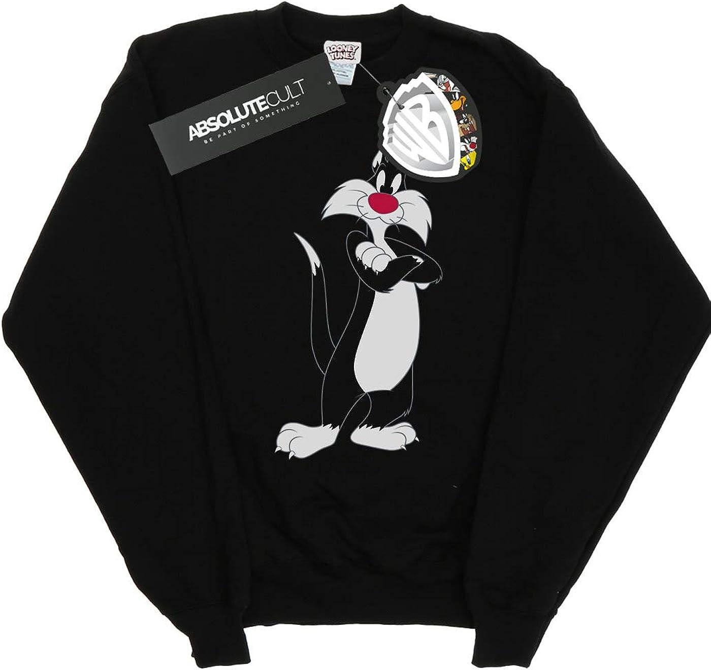 Absolute Cult Looney Tunes Girls Sylvester Greek Circle Sweatshirt