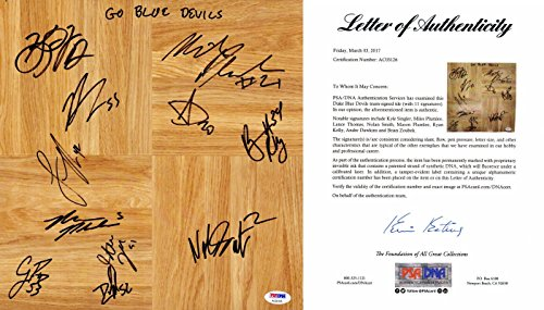 Duke Blue Devils Team Signed - Autographed Floor board signed by 11 Players including Nolan Smith, Kyle Singler, Plumlee - 2009/2010 National Champions - PSA/DNA FULL Letter of Authenticity (COA)