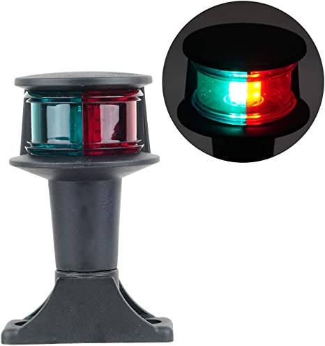 YOUNG MARINE Deck Mount Bi-Color Bow Light Red and Green LED for Boat Pontoon Yacht Skeeter Stainless Steel