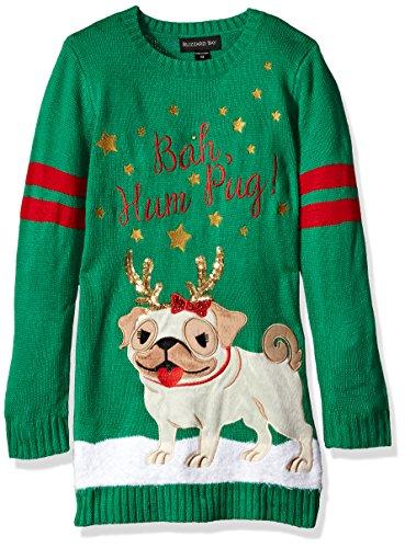 Girls' Big Bah-Hum Pug Xmas Sweater