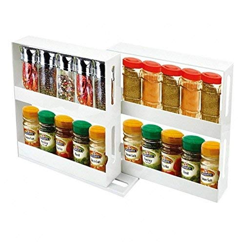 Spice Rack organizer Storage System Swivel Store for easy access (Spice Rack As Seen On Tv)