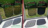 Kinder Fluff Car Sun shade -80 GSM with 15s Film (highest possible)for full UV protection-2 Transparent and 2 Semi-Transparent Sunshades