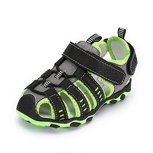 (Respctful✿Baby Water Sandals for Boy Anti Slip Beach Outdoor Summer Shoes Breathable Athletic Closed-Toe Shoes Green)