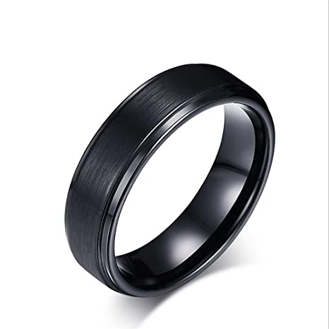 Anillo de tungsteno con anillo de tungsteno con anillo de tungsteno y banda de compromiso de ...