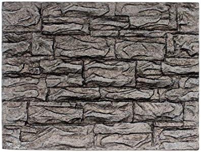 Hunpta - Fondo de espuma 3D para acuario, diseño de roca y reptil, decoración para peceras (B)