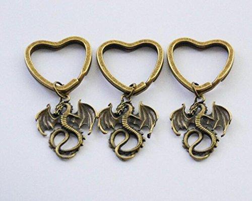 3 Dragon Keychains Best Friend Gifts BFF Keychains 3 Keychains Dragon Key ring set of 3 Fantasy Dragon Key Chains Unisex Dragon - Designer 3 Dragon