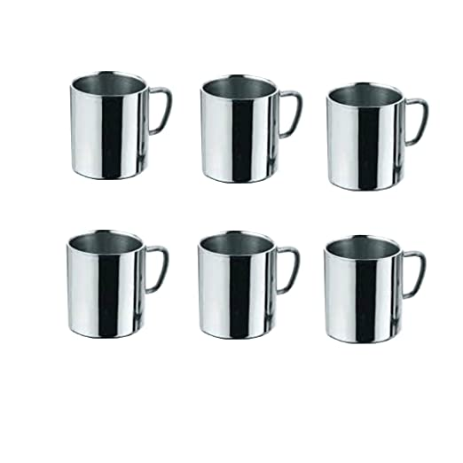 King International - Taza de café, acero inoxidable, doble ...