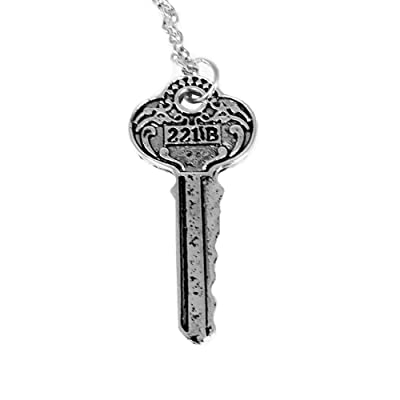 Sherlock Holmes 221B Key On Chain Necklace Costume Accessory: Toys & Games