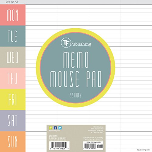 Glory Days Weekly Memo Mouse Desk Pad