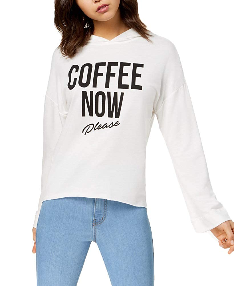 Pretty Rebellious Juniors Coffee Graphic Hoodie