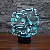 Abstractive 3D Bulbasaur Optical Illusion Night