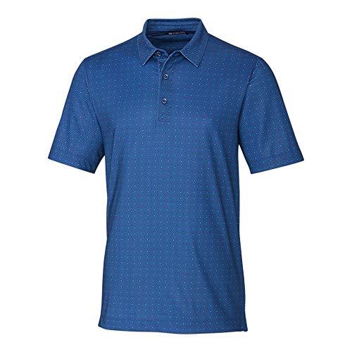 - Cutter & Buck MCK00137 Men's Pike Polo Double Dot Print Shirt, Indigo - XL