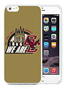 NCAA Atlantic Coast Conference ACC Footballl Boston College Eagles 1 White Hottest Sell Customized iPhone 6plus 5.5 Inch TPU Case