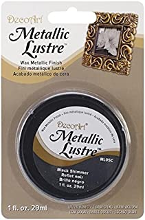 product image for DecoArt, Black Shimmer Metallic Lustre Wax, 1-Ounce, Onе Paсk