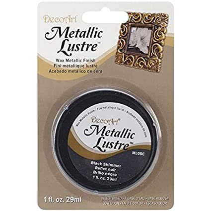 DecoArt Metallic Lustre Wax, 1-Ounce, Black Shimmer