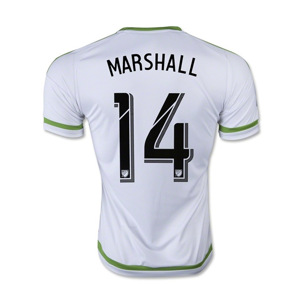 MARSHALL #14 Seattle Sounders FC Away Soccer Jersey 2015-16(Authentic name & number) /サッカーユニフォーム シアトルサウンダーズFC アウェイ用 B01C39IX0Y Small