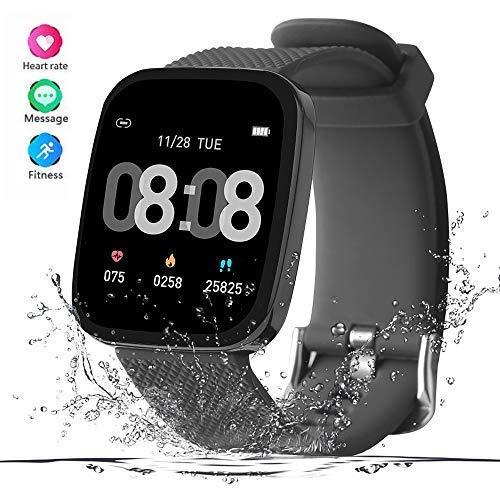 READ Smartwatch Reloj Inteligente Impermeable Hombre Mujer con Contador de Pasos del podómetro del Monitor de frecuencia cardíaca, Reloj de Fitness ...