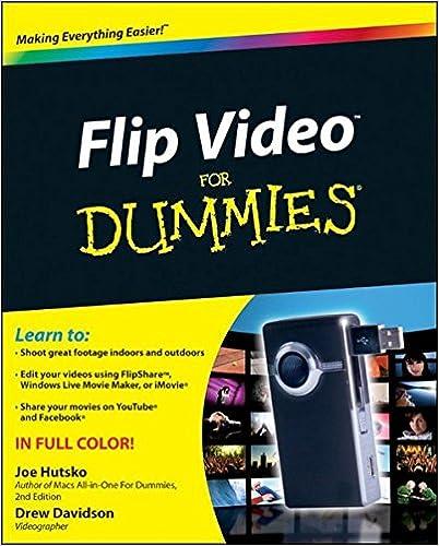 Epub books download ipad Flip Video For Dummies by Joe Hutsko PDF ePub MOBI