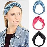 Elastic Boho Style Criss Cross Hairband,Twist Knot Headbands/Hairband/Bandana/Turban/Headwrap for Women and Girls (Dark Gray)
