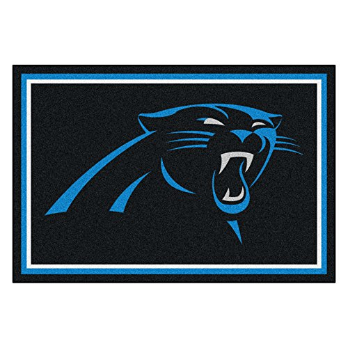 FANMATS NFL Carolina Panthers Nylon Face 5X8 Plush Rug by Fanmats