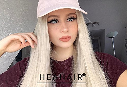 Heahair Handtied Colorful Fashion Synthetic Lace Front Wigs For Women (Natural Blonde) (Mermaid Wig In Blonde)