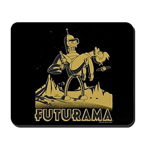 CafePress - Futurama Bender and Fry - Non-Slip Rubber Mousepad, Gaming Mouse -