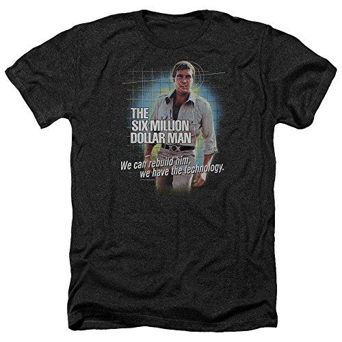 - Sons of Gotham Six Million Dollar Man Technology Adult Regular Fit Heather T-Shirt