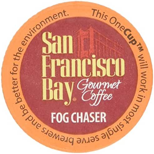 San Francisco Bay Fog Chaser Onecups 40 Count Box - K-cup Fog Chaser Coffee - Biodegradable K-cups