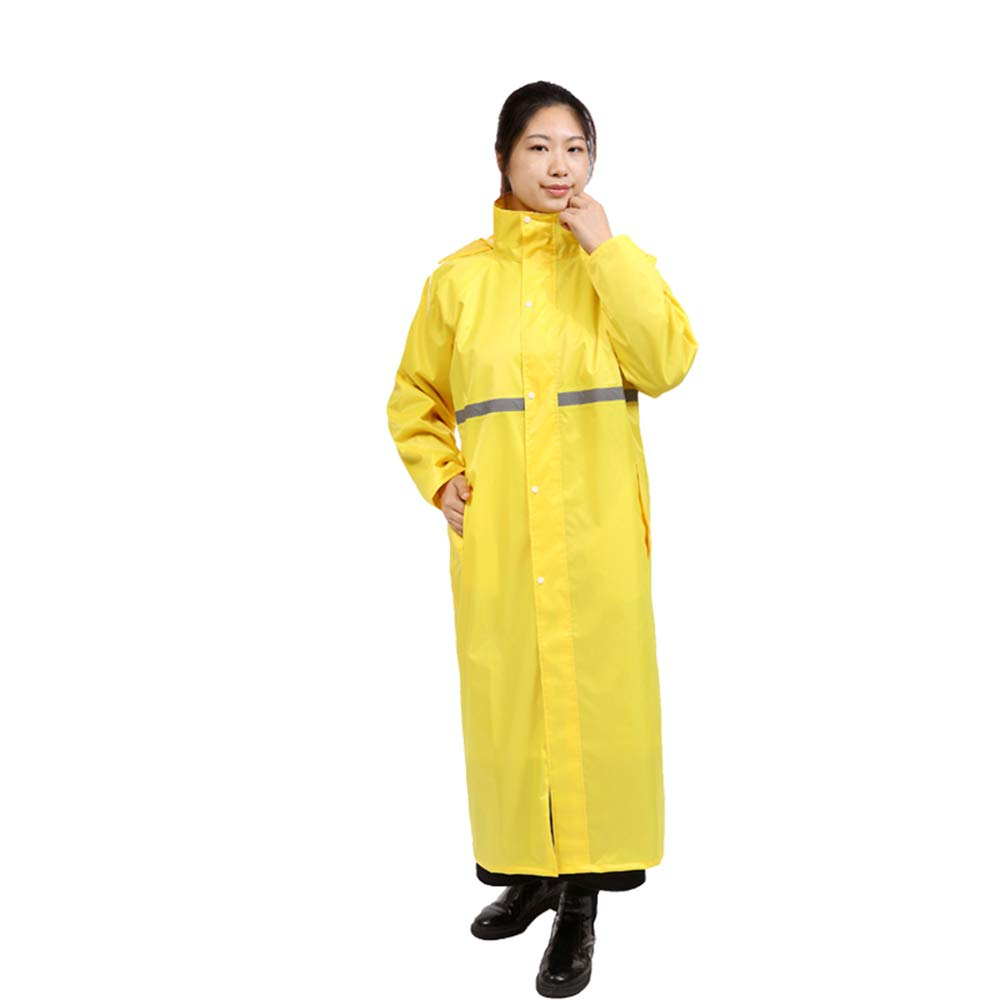 Yellow Waterproof Double Poncho, Reusable Raincoat Adult Men and Women Thickening Cycling Suit