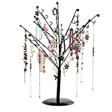Necklace Holder, Botitu 15.8 inch Tall Jewelry Stand with 64 Hooks Earring Tree for Counter Shop Retail Jewelry Display and Home Ornament, Suitable for Women and the Girl's Dresser Vanity, Tabletop and Showcase Bracelet Jewelry Holder