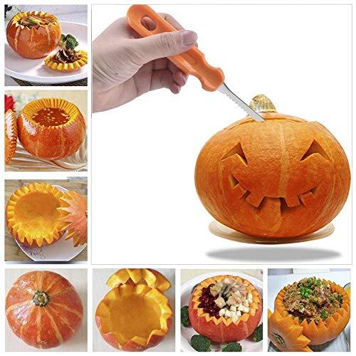 Clearance Sale!UMFun 13Pcs Halloween Pumpkin Carving Kit Designs Conventional Sculpting -