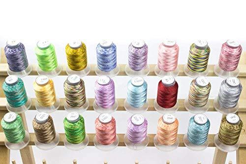 (Embroidex 24 Spools Variegated Embroidery Machine Thread)