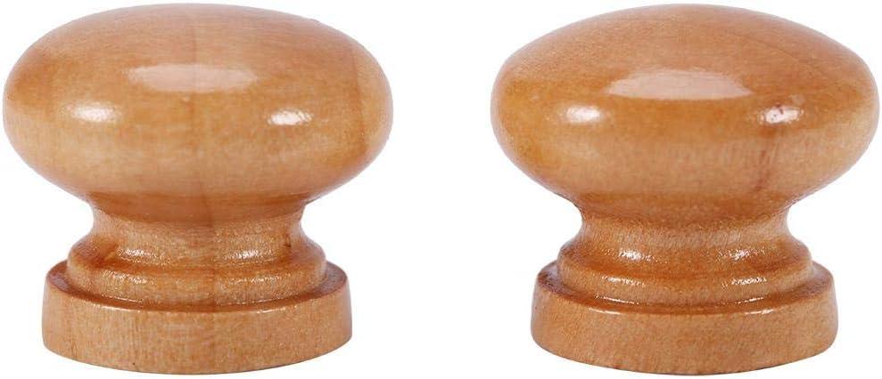 Armario Muebles de Madera Natural Cocina L 33MM 10 Piezas Tirador Perilla para cajones gabinete Dormitorio hogar Jeffergarden Perilla para Puerta Armario