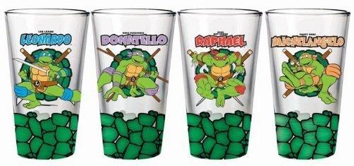 Teenage Mutant Ninja Turtles TMNT Turtle Shell Bottom Set of 4 Pint Glasses
